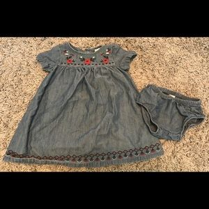 Carters Chambray Dress Red White And Blue size 12m